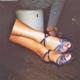 zapatos de baile de tira